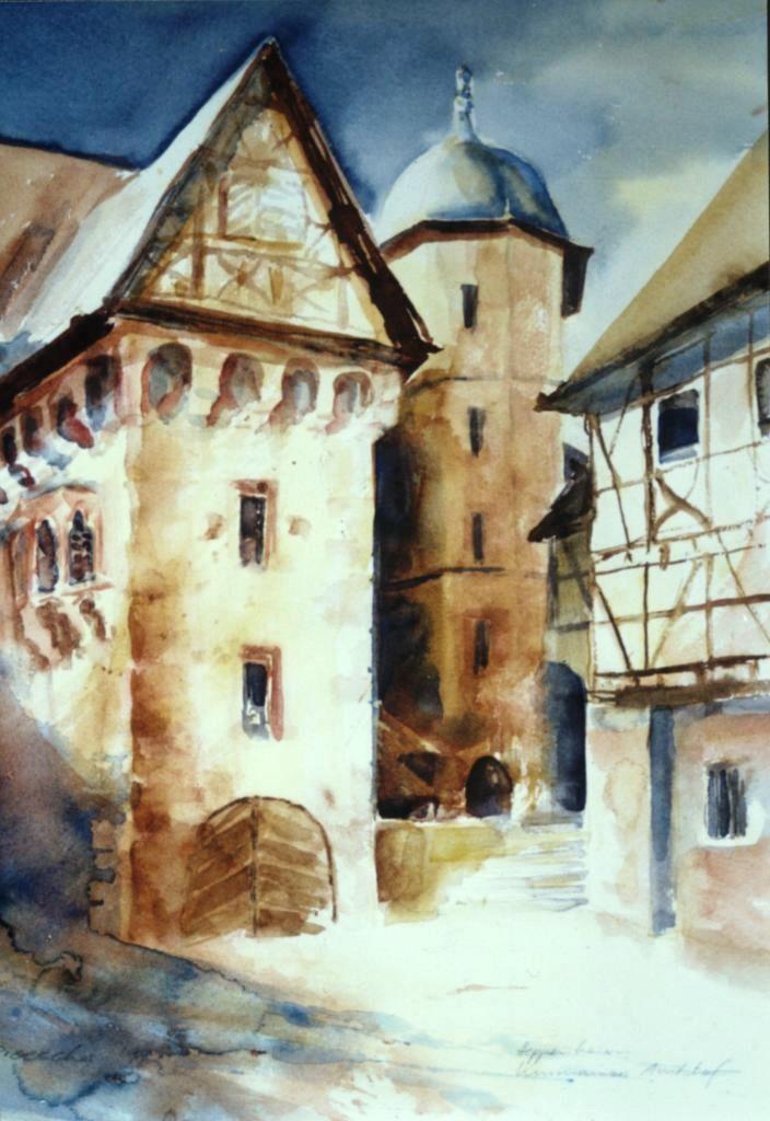 Heppenheim, Kurmainzer Amtshof I, 2001, 36x48.jpg