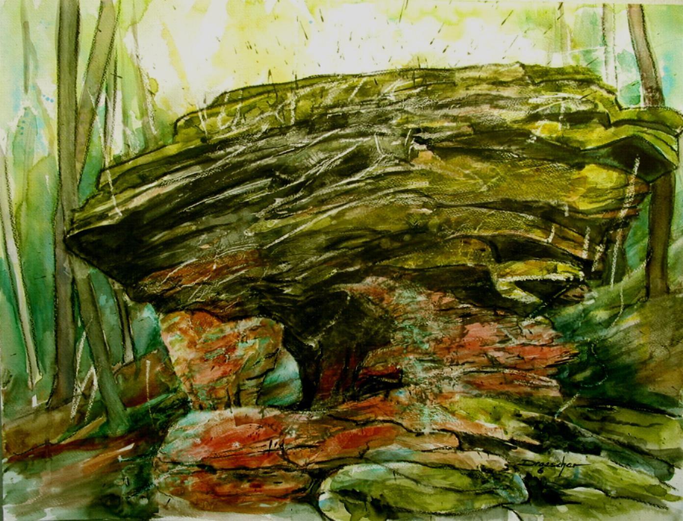 011 Teufelsschmiede (Pfälzer Wald) 2006 50x64.jpg